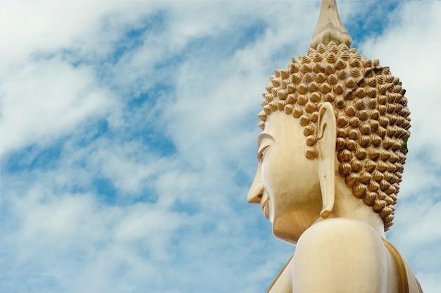 Grande statua del buddha sulla montagna