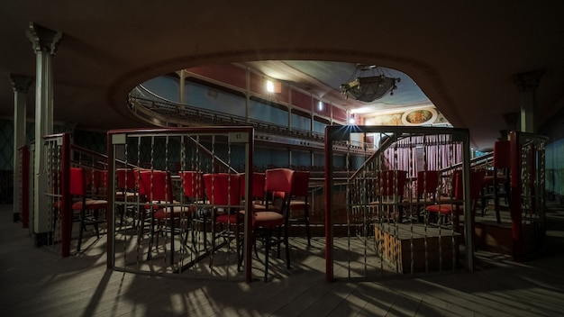 Grande teatro classico abbandonato
