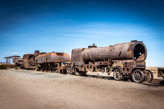 Grande treno cimitero, uyuni, bolivia