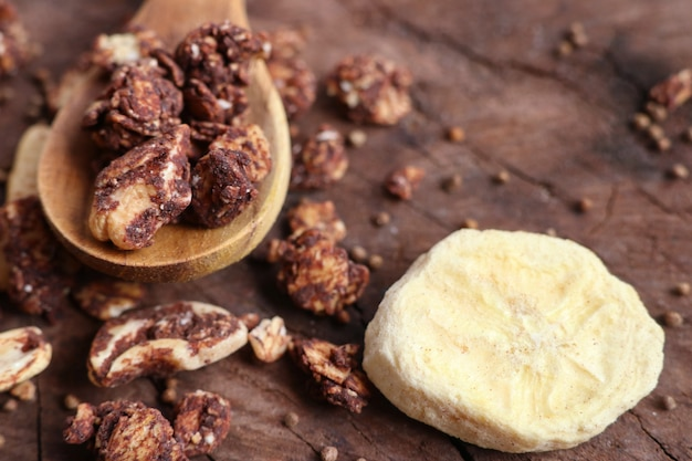 Granola sano con anacardi