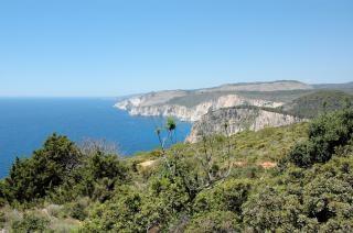 Grecia, zante paesaggio, scogliere
