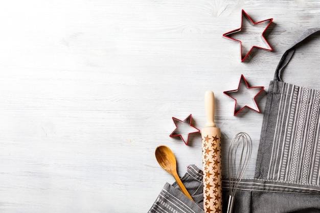 Grembiule da cucina sul concetto del fondo di natale