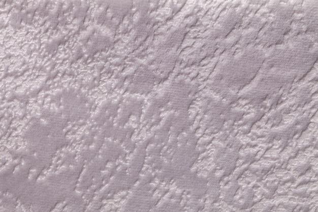 Grey una materia tessile molle della tappezzeria, primo piano.