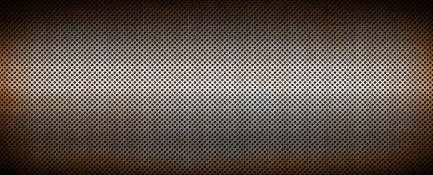 Griglia metallica arrugginita d'argento. trama di sfondo banner
