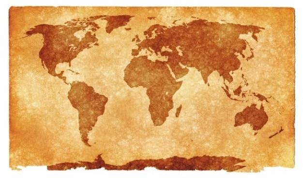 Grunge mappa del mondo