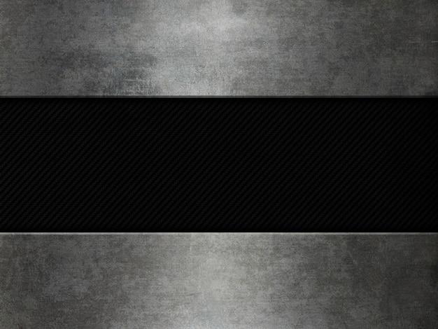 Grunge metal e sfondo in fibra di carbonio