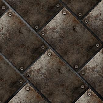 Grunge stile piastra metallica sfondo