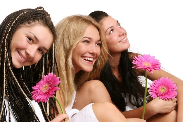 Gruppo di belle giovani womans