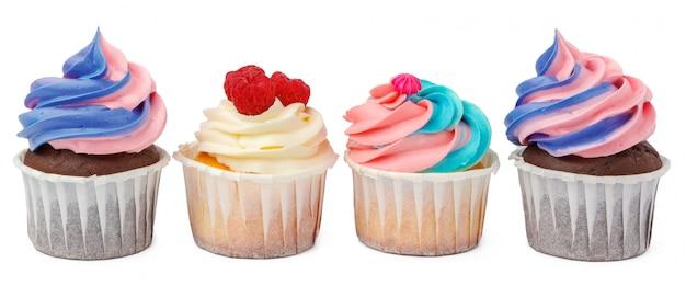 Gruppo di cupcakes con topping colorato