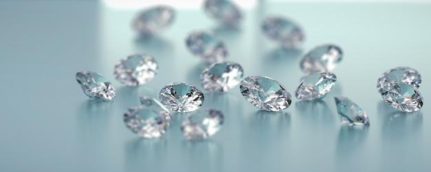 Gruppo di diamanti posizionato