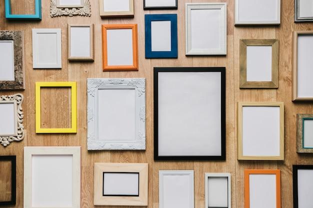 Gruppo di diversi frame di sfondo