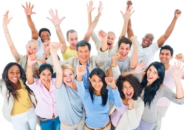 Gruppo di persone diverse