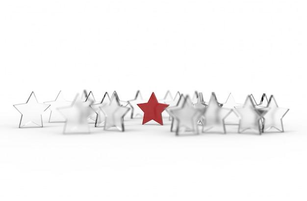 Gruppo di stelle isolato su sfondo bianco