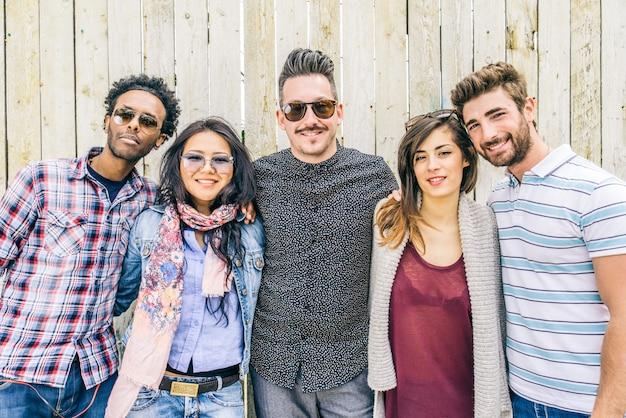 Gruppo multiculturale di persone
