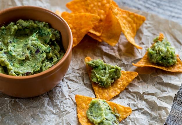 Guacamole con tortilla chips
