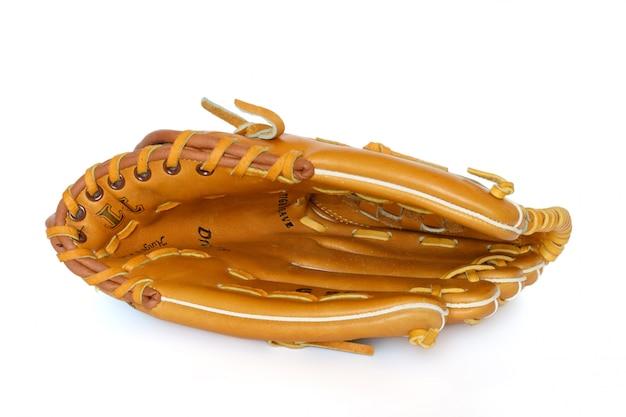 Guanto del collettore di baseball isolato su bianco