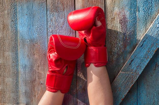 Guantoni da boxe rossi