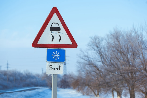 Guida invernale - road country