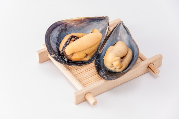 Guscio fresco oyster macro costoso