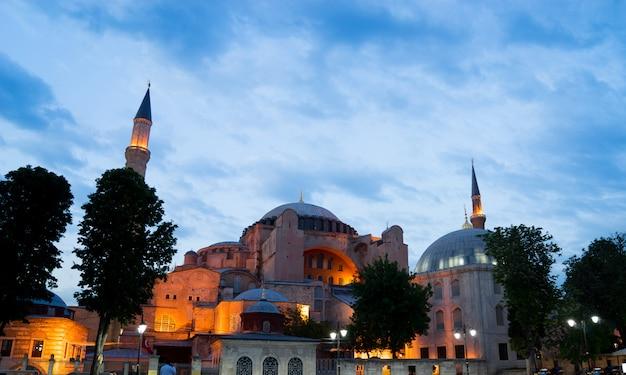Hagia sophia, sultano ahmed moschea blu, istanbul turchia