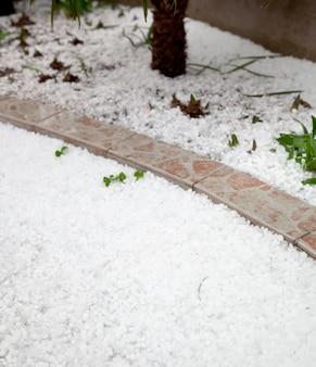 Hailstorm in giardino