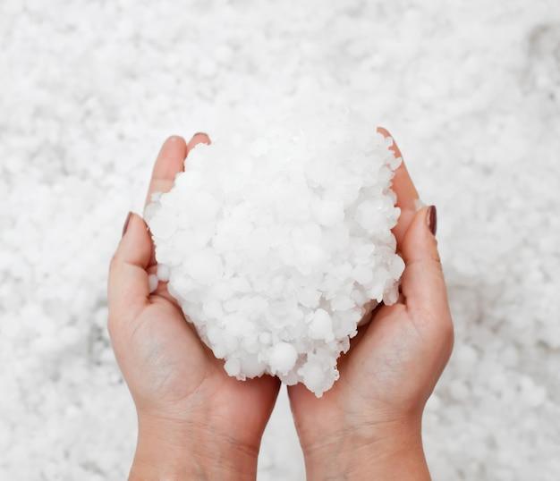 Hailstorm nelle mani