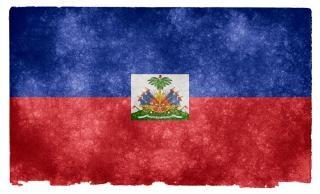 Haiti bandiera grunge indossato