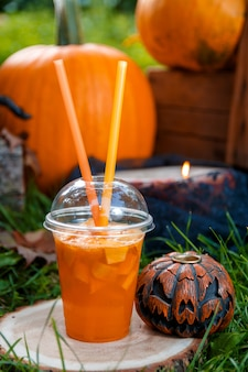 Halloween. jack-o-lantern. zucca spaventosa
