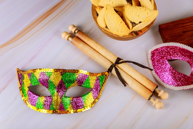 Hamantaschen hamans orecchie biscotti purim celebrazione festa ebraica
