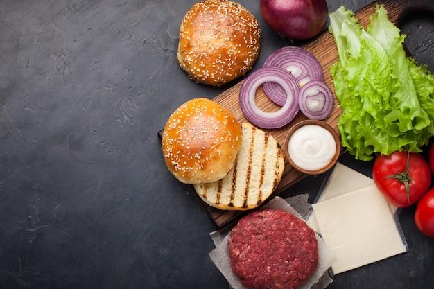 Hamburger building kit.