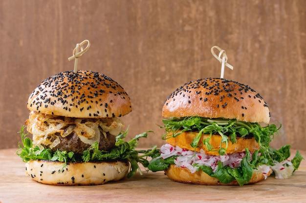 Hamburger di carne e verdure