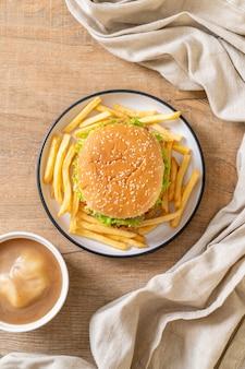 Hamburger di pollo fritto