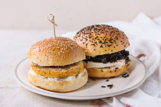 Hamburger vegetariano fatto in casa