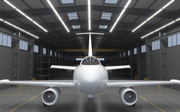 Hangar per moderni aerei a reazione.