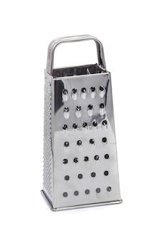 Hardware della cucina della grattugia dell'acciaio inossidabile isolato sopra fondo bianco