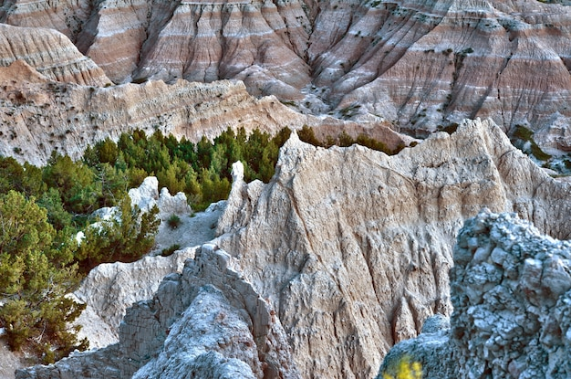 Hdr badlands scenery