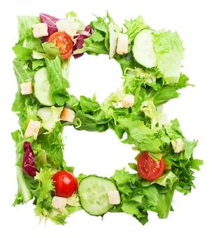Healthy lettera b