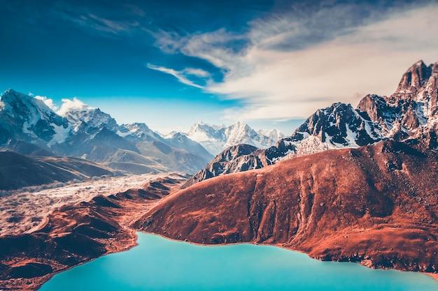 Himalaya. vista da gokyo ri