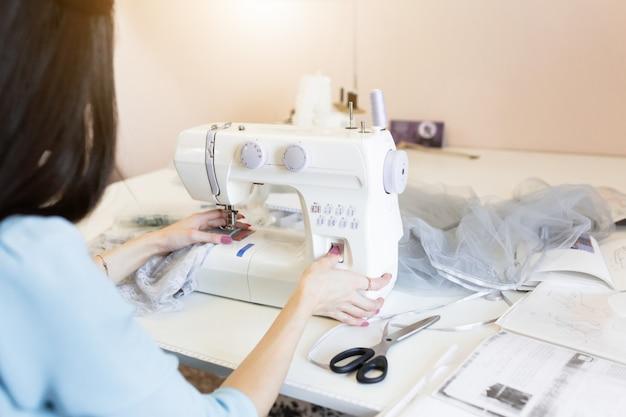 Hobby per cucire, piccole imprese o concetto di avvio