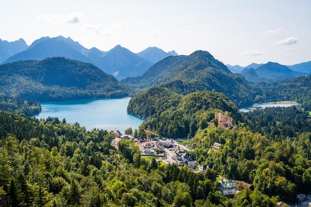 Hohenschwangau e alpsee, baviera, germania