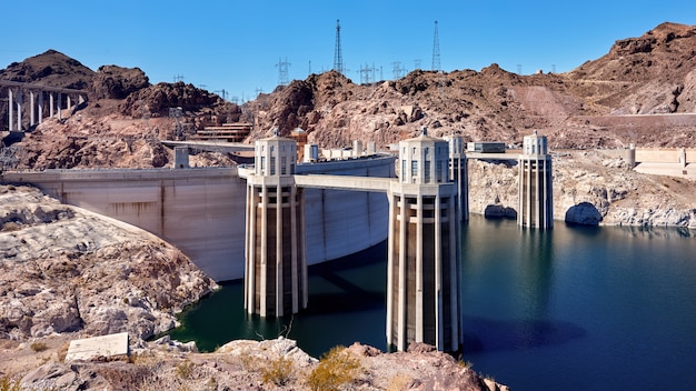 Hoover dam in nevada, stati uniti d'america
