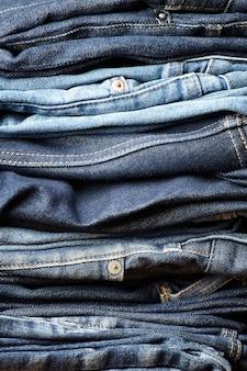 I dettagli del tessuto blue jeans