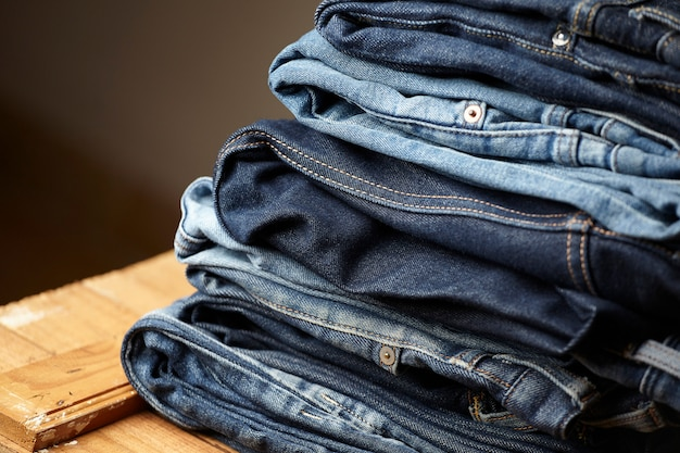 I dettagli in tessuto jeans blu