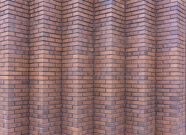 I muri di mattoni rossi. brick all'angolo.