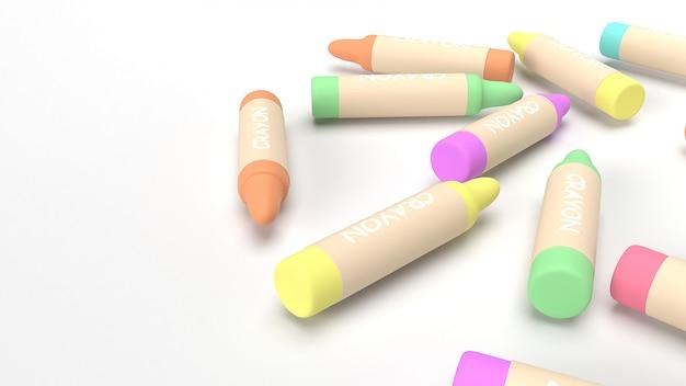 I pastelli 3d rendono