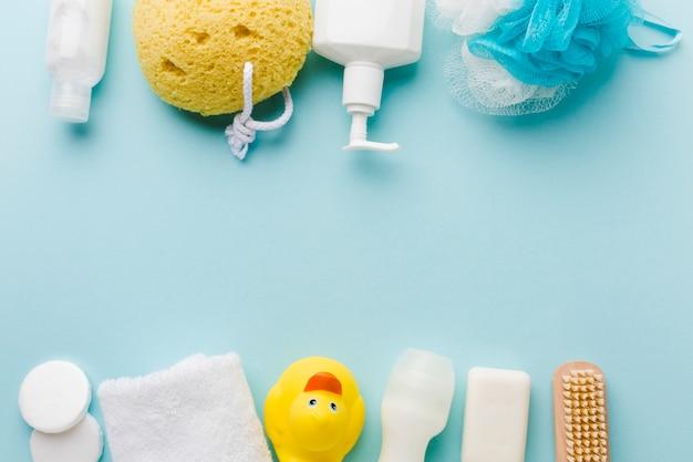 I prodotti per l'igiene personale copiano lo spazio