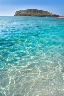Ibiza cala comte conta spiaggia baleari