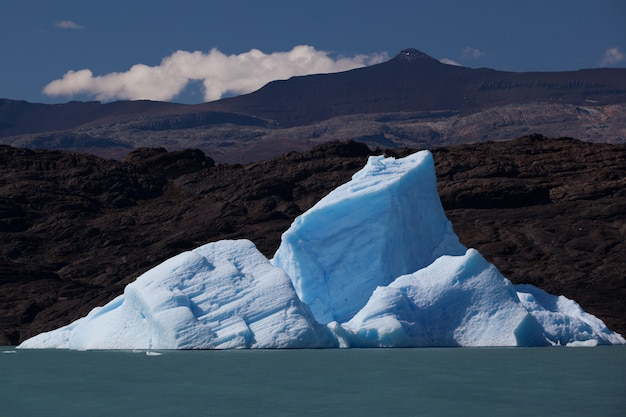 Iceberg vicino al ghiacciaio in fusione