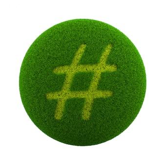 Icona del segno di sharp sfera dell'erba