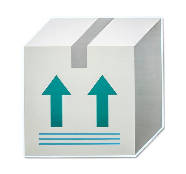 Icona della casella di esportazione e importazione logistica